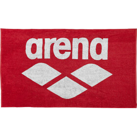 arena Pool Soft Handtuch red-white